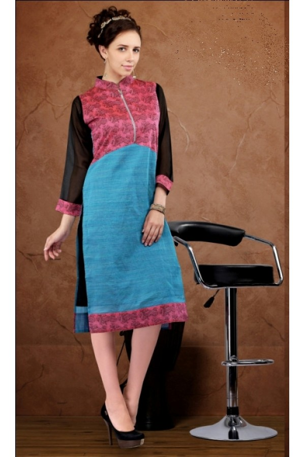 Office Wear Readymade Multi-Colour Kurti - Darpan2053
